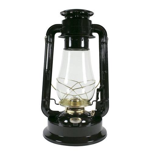 Petroleumlampe GARDEN schwarz-Messing, H 38 cm, Leuchtdauer 29 Std.